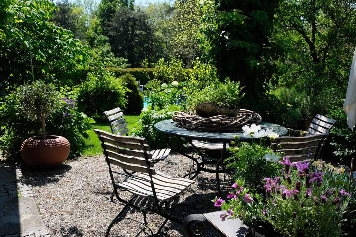 Terrasse-Garten-Sitzecke